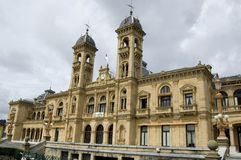 San sebastian - city hall buil Royalty Free Stock Images