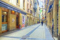 San Sebastian Cityscape Europees Kapitaal van Cultuur Stock Foto