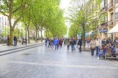 San Sebastian Cityscape Europees Kapitaal van Cultuur Stock Afbeelding