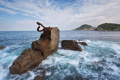 San Sebastian coastline landscape, Basque country, Spain. Stock Photo