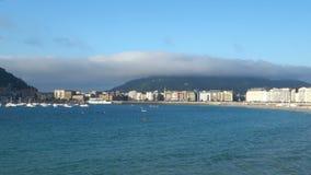 San Sebastian Concha Bay stock video