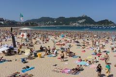 San Sebastian Concha Beach Imagem de Stock Royalty Free