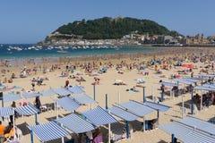 San Sebastian Concha Beach Immagini Stock Libere da Diritti