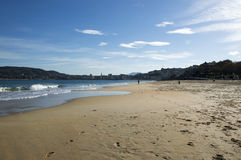 San Sebastian from the Concha beach Royalty Free Stock Images