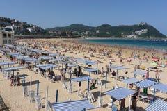 San Sebastian Concha Beach Royalty Free Stock Images