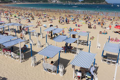 San Sebastian Concha Beach Royalty Free Stock Photos