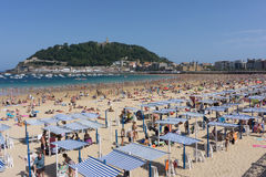 San Sebastian Concha plaża Fotografia Stock