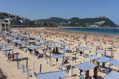 San Sebastian Concha plaża Obrazy Royalty Free
