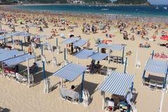 San Sebastian Concha plaża Zdjęcia Royalty Free