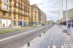 San Sebastian De culturele hoofdstad van Europa Royalty-vrije Stock Afbeeldingen