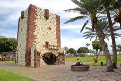 SAN SEBASTIAN DE LA GOMERA, LA GOMERA, SPAIN: The tower Torre del Conde in San Sebastian de la Gomera Royalty Free Stock Photos