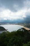 San Sebastian Donostia at Biscay bay coast, Spain. Stock Image