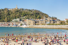 San Sebastian, Donostia, Gipuzkoa, Баскония, Испания-Novembe Стоковое Фото