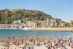 San Sebastian, Donostia, Gipuzkoa, país Basque, Espanha-Novembe Foto de Stock