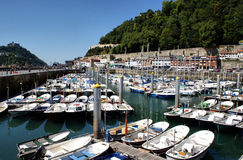 San Sebastian (Donostia) harbour Royalty Free Stock Images
