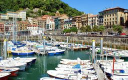 San Sebastian (Donostia) harbour Stock Photo