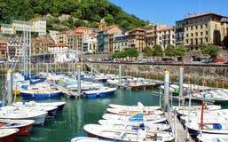 San Sebastian (Donostia) harbour Stock Photo