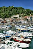 San Sebastian (Donostia) harbour royalty free stock image