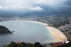 San Sebastian Donostia przy Biskajskim zatoki wybrzeżem, Hiszpania Zdjęcie Stock