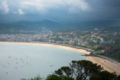 San Sebastian Donostia przy Biskajskim zatoki wybrzeżem, Hiszpania Obrazy Stock