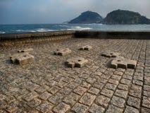 San Sebastian Donostia Seaside Viewpoint na cidade norte da Espanha fotografia de stock royalty free