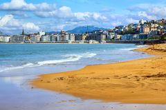 San Sebastian - Donostia, Spanien, baskiskt land royaltyfri bild