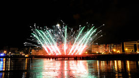 San Sebastian fireworks in summer fair Stock Photo