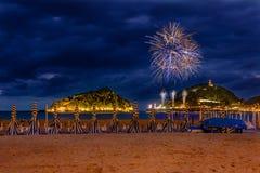 San Sebastian fireworks Stock Images