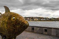 San Sebastian Fish Statue Fotografering för Bildbyråer