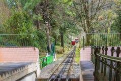 San Sebastian funicular track, Spain Stock Images