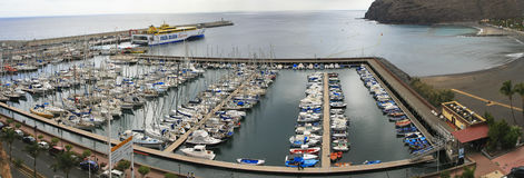 San Sebastian Harbour royalty free stock image