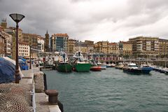 San Sebastian harbour, Basque country. In Spain Stock Image