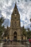 SAN SEBASTIAN HISZPANIA, WRZESIEŃ, - 30, 2015: Ludzie odwiedza Dobrą Pasterską katedrę San Sebastian obrazy royalty free