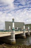 San sebastian - kursaal bridge. Kursaal bridge in san sebastian Royalty Free Stock Images