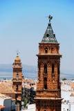 San Sebastian kyrkligt torn, Antequera Fotografering för Bildbyråer
