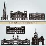 San Sebastian Landmarks Royalty Free Stock Photography