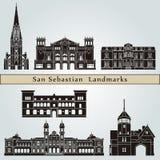 San Sebastian Landmarks Royalty Free Stock Photography