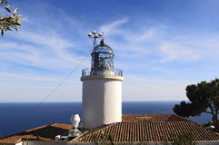 San Sebastian ,Lighthouse, Palafrugell, Costa Brava, Girona, Spa Royalty Free Stock Photo