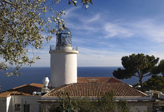 San Sebastian Lighthouse, Palafrugell, Costa Brava, Girona, Spai Stock Photos