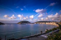 San Sebastian miasta panoramy baska kraj Zdjęcia Royalty Free