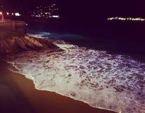 San sebastian at night. A glimose of the Cantabric royalty free stock photos