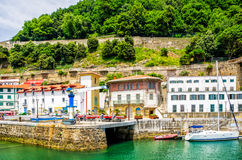 San Sebastian, old town and harbour. Stock Photos
