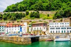 San Sebastian, old town and harbour. Stock Photos