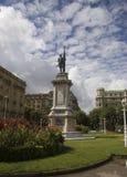 San sebastian - oquendo statue. Oquendo statue in san sebastian Stock Images