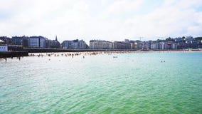 San Sebastian, Pais Vasco, Hiszpania zbiory wideo