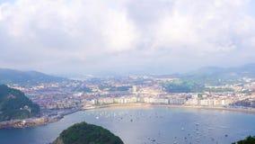 San Sebastian, Pais Vasco, Hiszpania zdjęcie wideo