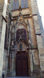 San Sebastian Spain Cathedral Door. San Sebastian city in Basque Country Beach Good Shepper Cathedral Stock Photography