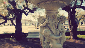 San Sebastian Spain Garden sculpture. San Sebastian city in Basque Country Beach La Concha Stock Photos
