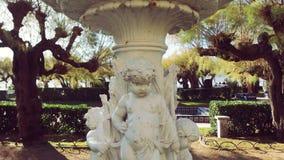 San Sebastian Spain Garden sculpture. San Sebastian city in Basque Country Beach La Concha royalty free stock photography
