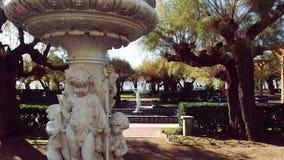 San Sebastian Spain Garden sculpture. San Sebastian city in Basque Country Beach La Concha royalty free stock image